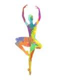 Abstract dancing girl Royalty Free Stock Image
