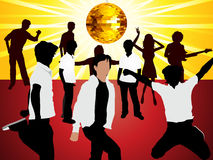 Abstract dancing party with people Royalty Free Stock Image
