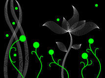 Abstract dancing plants Stock Photo