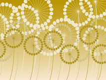 Abstract dandelion background Stock Photography
