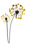 Abstract Dandelion Background Vector Illustration. Abstract Dandelion Background Isolated Vector Illustration EPS10 Royalty Free Stock Images