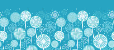 Abstract Dandelion Plants Horizontal Seamless Stock Photos