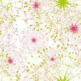 Abstract dandelion seamless pattern Stock Image