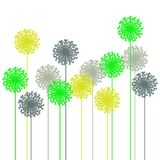 Abstract dandelion silhouette Royalty Free Stock Image