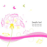 Abstract dandelion valentine day greeting card vector Stock Photo