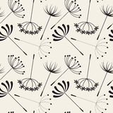 Abstract Dandelions seamless patterns Stock Image
