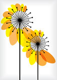 Abstract dandelions silhouettes background Royalty Free Stock Image