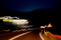 Abstract dangerous blurred driving Royalty Free Stock Photos