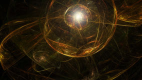 Abstract dark artistic sphere Royalty Free Stock Photo