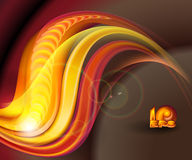 Abstract dark background. With red golden waves Royalty Free Stock Photo
