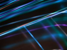 Abstract dark background with blue luminous lines Royalty Free Stock Photo
