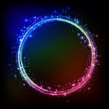 Abstract dark background with color light frame Royalty Free Stock Photos