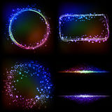 Abstract dark background with color light Royalty Free Stock Images
