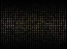 Abstract of dark background on gold circle shape random size pat. Tern, vector eps10 royalty free illustration