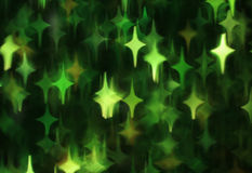 Abstract dark background with green stars Royalty Free Stock Photo