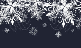 Abstract dark background with snowflakes stock photo
