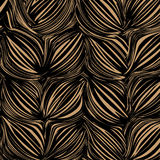 Abstract dark background stylized ears of rye. Vector EPS10 Royalty Free Stock Photo