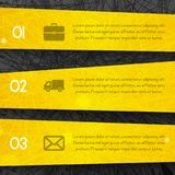 Abstract dark background with yellow lines and stripes style  Stock Photography