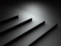 Abstract Dark Black Metallic Background. 3d Render Illustration Royalty Free Stock Photo