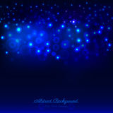Abstract dark blue background with bokeh Stock Photo