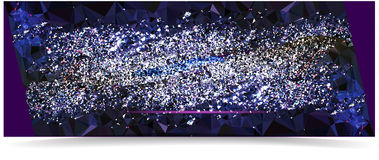Abstract dark blue background with glowing crystals resembling night sky with stars. White and blue shining crystals on a dark blue and black background Stock Photography