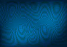 Abstract dark blue background with a pattern of curved lines. Illustration Stock Photo