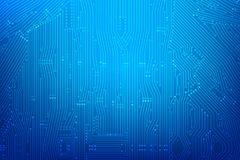 Abstract dark blue background with print circuit board line and. Dot connection element vector illustration eps10 Stock Photography
