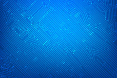 Abstract dark blue background with print circuit board line and. Dot connection element vector illustration eps10 Stock Images