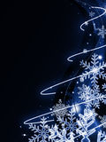 Abstract dark blue christmas background Stock Photo