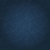 Abstract Dark Blue Faded Waving Swirl Seamless Background. With Curl Elements royalty free illustration