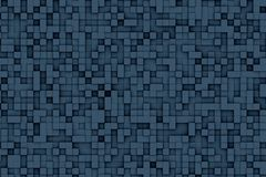 Abstract Dark Blue 3d Geometric Small Cube Background Design Pattern. Abstract dark blue geometric small cube or box shape background or pattern design Stock Images