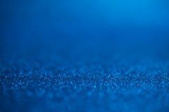 Abstract dark blue glitter bokeh holiday background Stock Photography