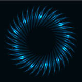Abstract dark blue glowing vortex Stock Images