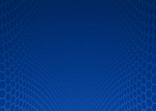Abstract dark blue hexagon design background. Stock Image