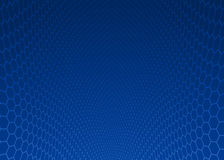 Abstract dark blue hexagon design background. Royalty Free Stock Photography