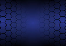 Abstract dark blue hexagons background vector illustration Royalty Free Stock Photos