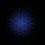 Abstract dark blue hexagons vector background Royalty Free Stock Images