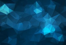 Abstract Dark blue polygonal illustration, which consist of triangles. Geometric background in Origami style with gradient. Triang. Ular design for your business stock illustration