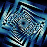 Abstract dark blue spirals pattern 3d art Stock Image