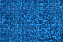 Abstract dark blue square pixel mosaic. Background Royalty Free Stock Image