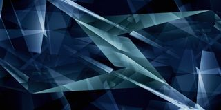 Abstract dark blue triangles background. 3d rendering Royalty Free Stock Photo