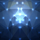 Abstract dark blue triangles background. Vector illustration stock illustration