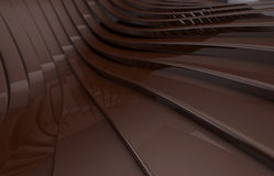 Abstract Dark brown Metallic Shiny Background. 3d render Stock Photos