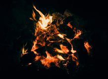 Abstract Two Tone Dark Camp Fire royalty free stock photos