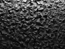 Abstract Dark Chaotic Cube Shapes Background. Royalty Free Stock Photo