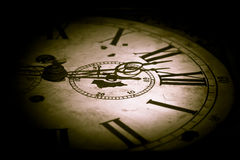 Abstract dark clock Stock Image