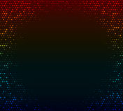Abstract dark colorful background. Glowing mosaic of stars Stock Image