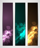 Abstract dark colorful banners. With splatters Royalty Free Stock Photo