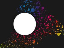 Abstract dark colorful dotted background with label. Modern style Stock Photos