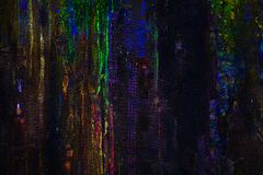Abstract dark colorful textured hand painted background.  Royalty Free Stock Images